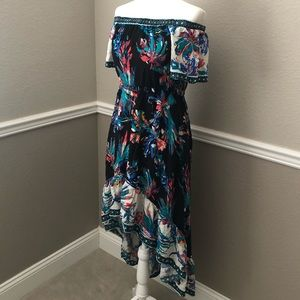Flying Tomato High Low Off The Shoulder Dress S